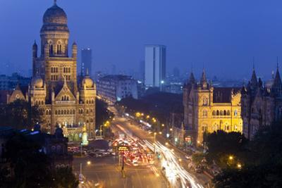 View over Victoria Terminus or Chhatrapati Shivaji Terminus and Central Mumbai by Peter Adams