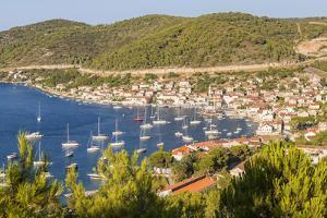 Vis Town and Harbor, Vis Island, Croatia by Peter Adams