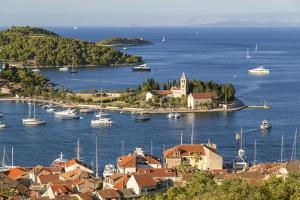 Vis Town, Franciscan Monastery and Harbor, Vis Island, Croatia by Peter Adams