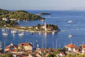 Vis Town, Franciscan Monastery and Harbor, Vis Island, Croatia by Peter Adams
