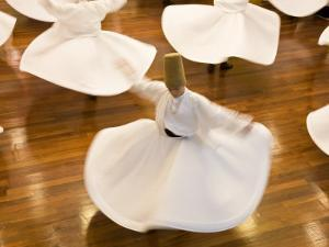 Whirling Dervishes, Istanbul, Turkey by Peter Adams