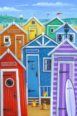 Rainbow Beach Huts by Peter Adderley