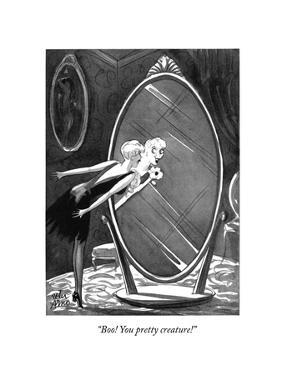 """""""Boo! You pretty creature!"""" - New Yorker Cartoon by Peter Arno"""