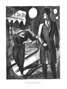 """""""Feelthy peectures?"""" - New Yorker Cartoon by Peter Arno"""