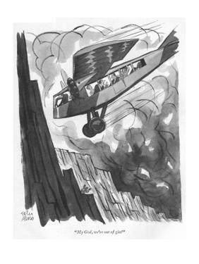 """""""My God, we're out of gin!"""" - New Yorker Cartoon by Peter Arno"""
