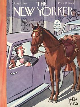 The New Yorker Cover - August 2, 1941 by Peter Arno