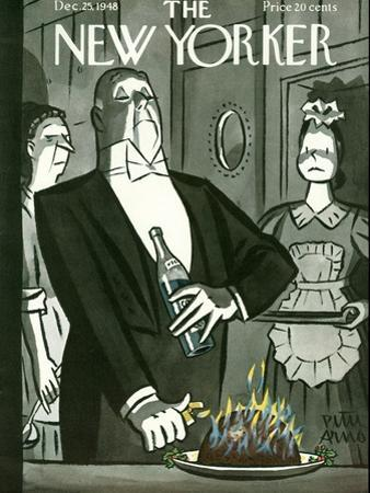 The New Yorker Cover - December 25, 1948 by Peter Arno