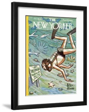The New Yorker Cover - January 28, 1956 by Peter Arno
