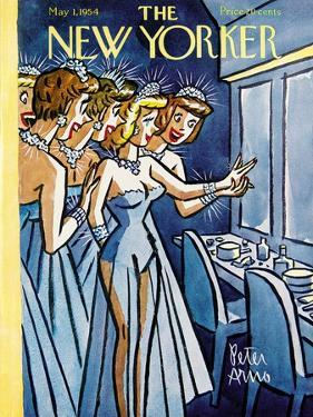 The New Yorker Cover - May 1, 1954 by Peter Arno