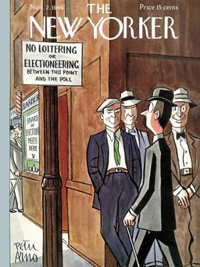 The New Yorker Cover - November 2, 1940 by Peter Arno