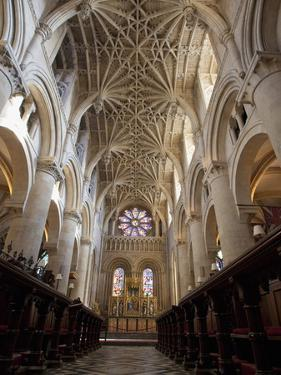 Christ Church Cathedral Interior, Oxford University, Oxford, England by Peter Barritt