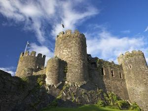 Conwy Medieval Castle in Summer, UNESCO World Heritage Site, Gwynedd, North Wales, UK, Europe by Peter Barritt