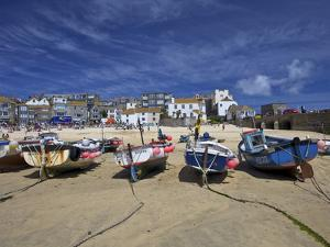 Fishing Boats in the Old Harbour, St. Ives, Cornwall, England, United Kingdom, Europe by Peter Barritt