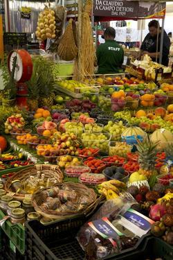 Fruit and Vegetable Stall at Campo De Fiori Market, Rome, Lazio, Italy, Europe by Peter Barritt