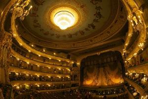 Interior of Marinsky Theatre, St. Petersburg, Russia, Europe by Peter Barritt