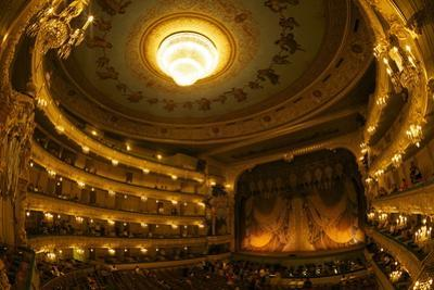 Interior of Marinsky Theatre, St. Petersburg, Russia, Europe by Peter Barritt