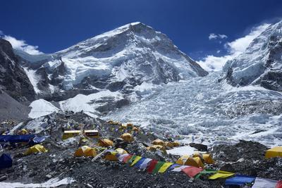 Khumbu Icefall from Everest Base Camp