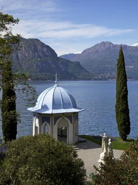 Moorish Style Classical Temple, Gardens of Villa Melzi, Bellagio, Lake Como, Lombardy, Italy by Peter Barritt