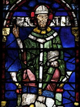 Portrait of St. Thomas Becket, Canterbury Cathedral, UNESCO World Heritage Site, England by Peter Barritt