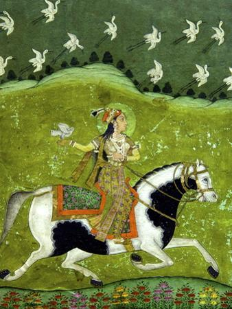 Sultan Razia of Delhi, 18th Century, Archaeological Museum, Red Fort, Delhi, India, Asia