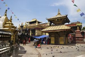 Swayambhunath Stupa (Monkey Temple), UNESCO World Heritage Site, Kathmandu, Nepal, Asia by Peter Barritt