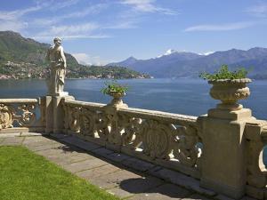 View from Terrace of 18th Century Villa del Balbianello, Lenno, Lake Como, Italian Lakes, Italy by Peter Barritt