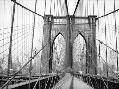 Brooklyn Bridge, 1948, New York, USA