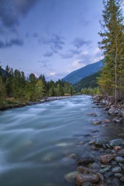 Carpenter Creek Flowing into Slocan Lake, New Denver, B.C., Canada by Peter Bennett