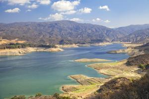Castaic Lake, West Branch California Aqueduct. Los Angeles, California by Peter Bennett