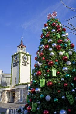 Christmas Tree at the Farmers Market, Los Angeles, California, USA. by Peter Bennett