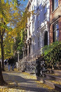 Couple on Leroy Street in Greenwich Village, Manhattan, New York, USA by Peter Bennett
