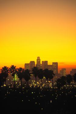 Los Angeles Skyline, California, USA by Peter Bennett
