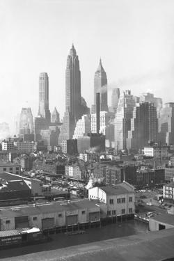 Lower New York City Skyline, 1947, New York, USA by Peter Bennett