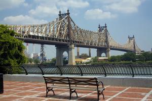 Queensboro Bridge, Sutton Place Park, Manhattan, New York, USA by Peter Bennett