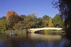 The Lake, Central Park, Manhattan, New York, USA by Peter Bennett
