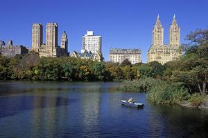 The Lake in Central Park, Manhattan, New York, USA by Peter Bennett