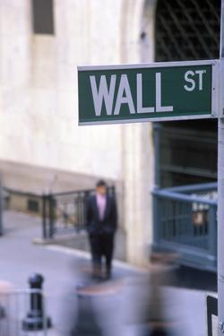 Wall Street Sign, Manhattan, New York, USA by Peter Bennett