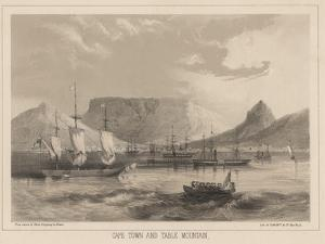 Cape Town and Table Mountain, Litho by Sarony and Co., 1855 by Peter Bernhard Wilhelm Heine