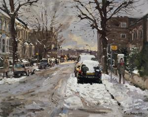 Mall Street, Hammersmith, Freezing Thaw, 2009 by Peter Brown