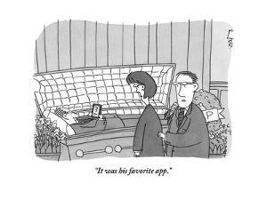 """It was his favorite app."" - New Yorker Cartoon by Peter C. Vey"