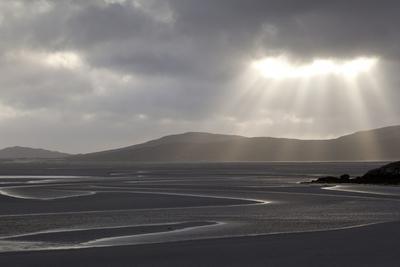 Traigh Losgaintir Beach and Estuary in Evening Light, North Harris, Scotland, UK, May