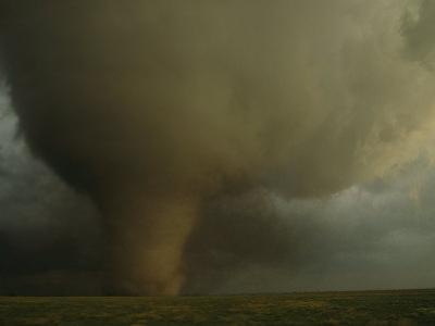 An F4 Category Tornado Barrels Across South Dakota Farmland by Peter Carsten