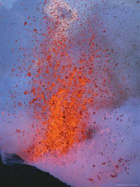 Explosive Lava Spews from the Mountain; Sicilys Famed Mount Etna is Europes Highest Active Volcano by Peter Carsten