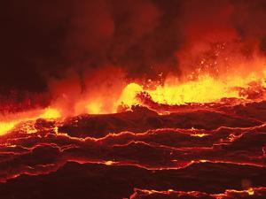 Waves of Lava in Nyiragongo's Crater by Peter Carsten