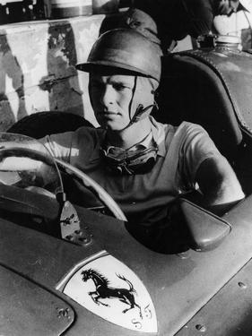 Peter Collins in a Ferrari, C1956