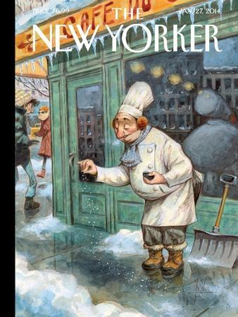 Just a Pinch - The New Yorker Cover, January 27, 2014