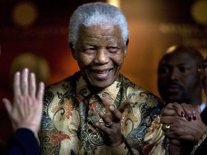 Nelson Mandela by Peter Dejong