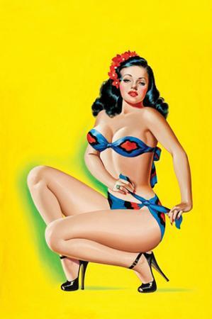 Beauty Parade Magazine; Pinup in a Bikini by Peter Driben
