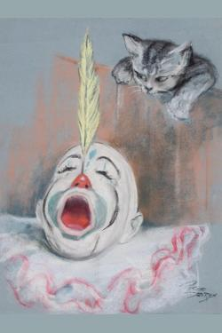 Clown with Cat by Peter Driben