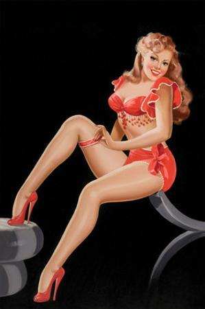 Eyeful Magazine: Pinup in Red by Peter Driben